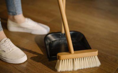 Sweeping the floors